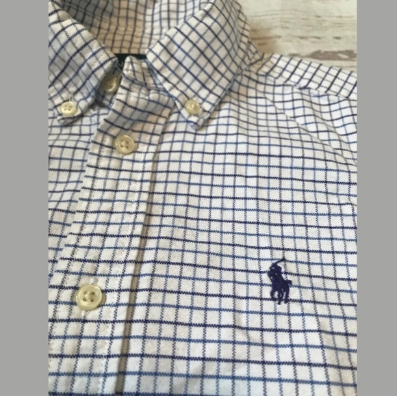 Ralph Lauren Other - RALPH LAUREN Polo Dress Shirt Boys Sz 6 Blue Check